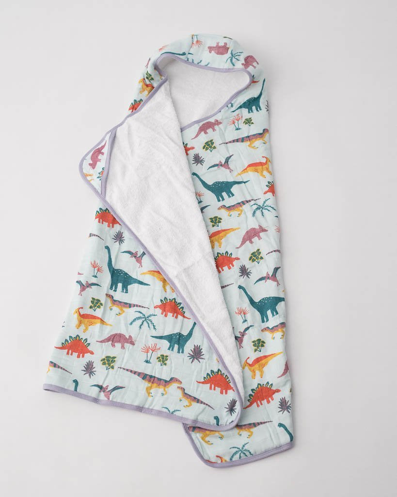 Little Unicorn LU + Jurassic World Big Kid Hooded Towel - Embroidosaurus