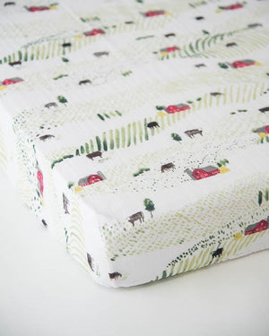 Little Unicorn Cotton Muslin Crib Sheet - Rolling Hills