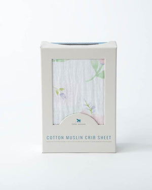 Little Unicorn Cotton Muslin Crib Sheet - Pink Peony