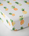 Little Unicorn Cotton Muslin Crib Sheet - Pineapple