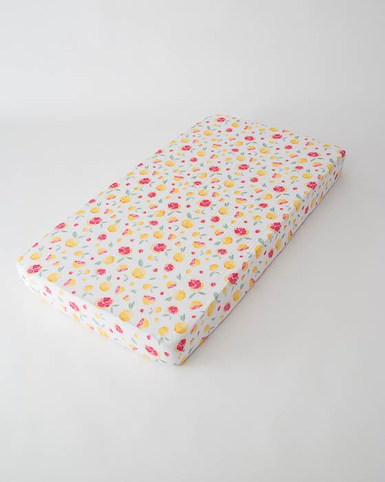 Little Unicorn Cotton Muslin Crib Sheet - Grapefruit