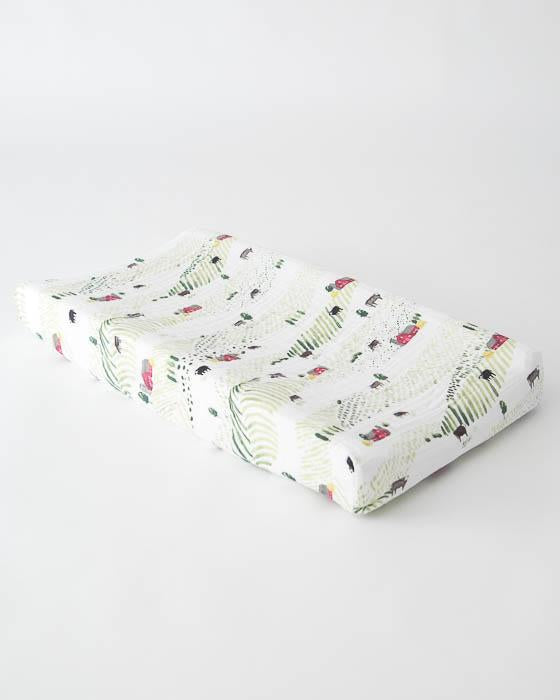 Little Unicorn Cotton Changing Pad Cover - Rolling Hills