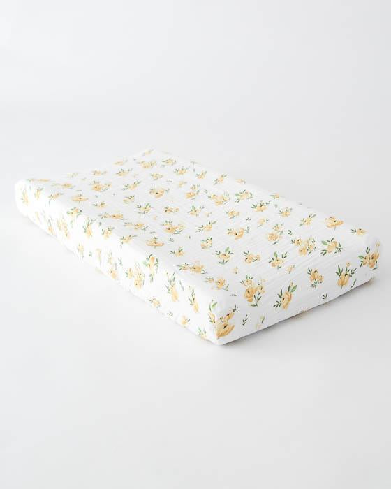 Little Unicorn Cotton Changing Pad Cover - Yellow Rose
