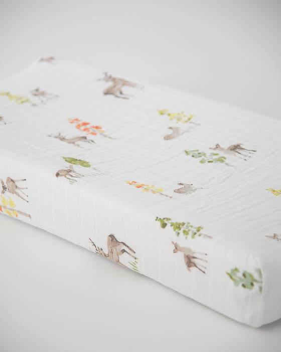 Little Unicorn Cotton Changing Pad Cover - Oh Deer