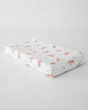 Little Unicorn Cotton Changing Pad Cover - Fox