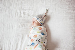 Copper Pearl Knit Swaddle Blanket | Varsity