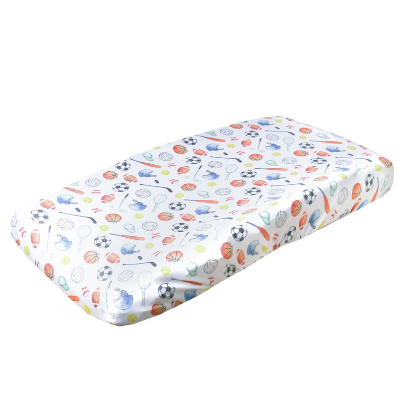 Copper Pearl Premium Diaper Changing Pad Cover - Varsity