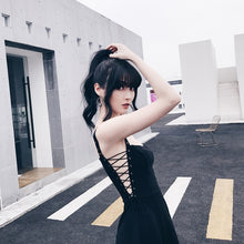 "Load image into Gallery viewer, ""Night Strap"" Sleeveless Side Lace Dress"