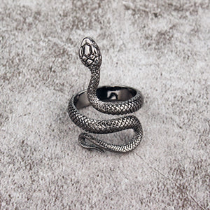 """Silver Slither"" Snake Ring"