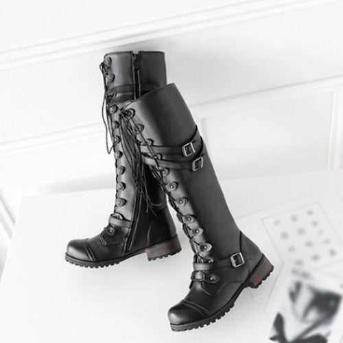 'Buckle Babe' Combat Boots