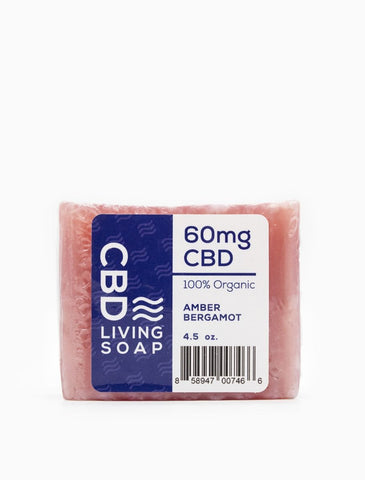 CBD Living Soap 60mg Amber Bergamont
