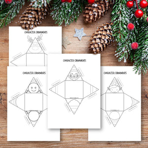 Character Printable Christmas Ornament