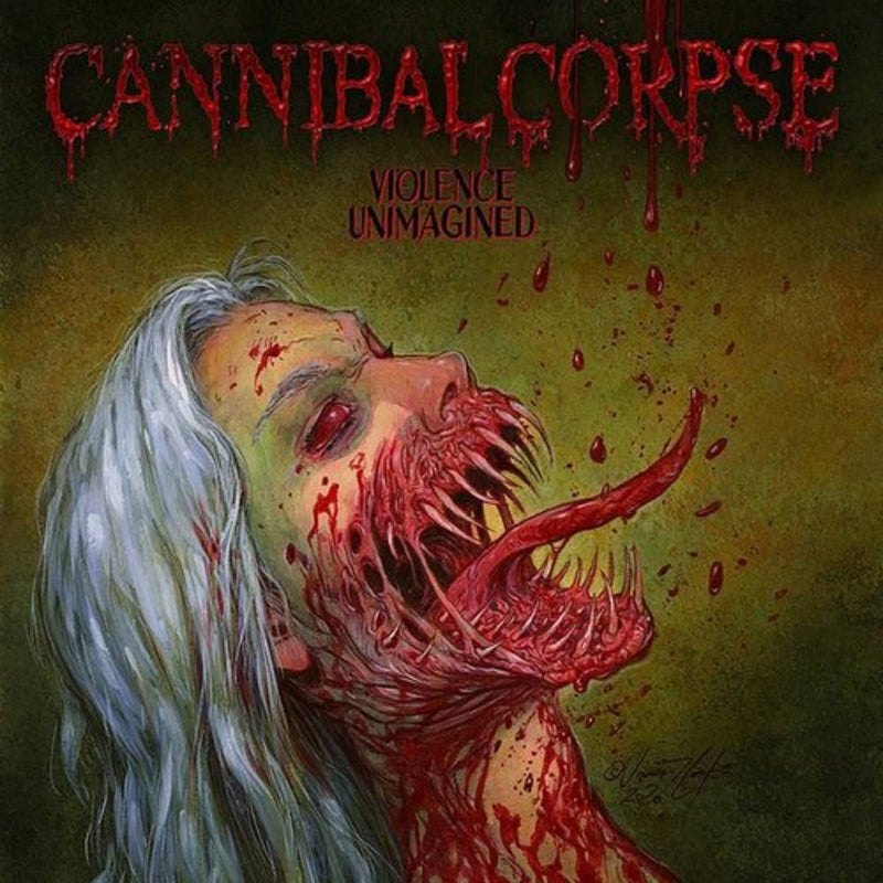 Cannibal Corpse - Violence Unimagined [LP - White w/ Olive Melt]