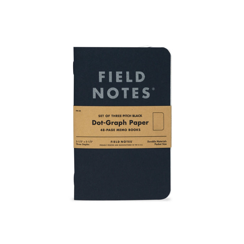 Field Notes - Pitch Black Dot Graph [Memo]