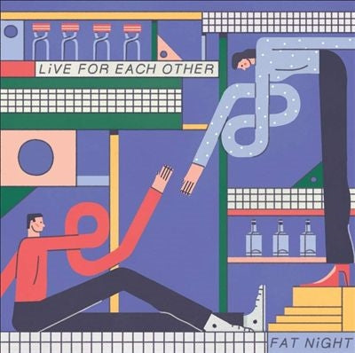 Fat Night - Live For Each Other [2xLP - Blue]