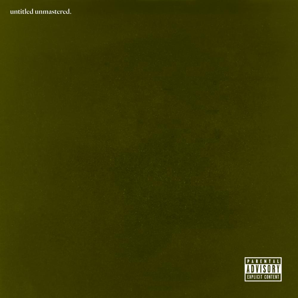Kendrick Lamar - untitled unmastered. [LP]