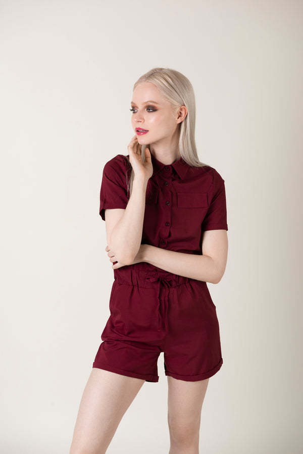 Mary - Single Breasted Jumpsuit - Just Your Dream London