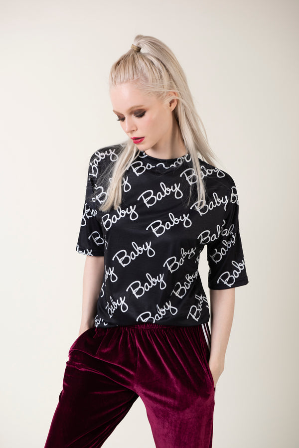 """Jenny""- Letter Print Tee - Just Your Dream London"