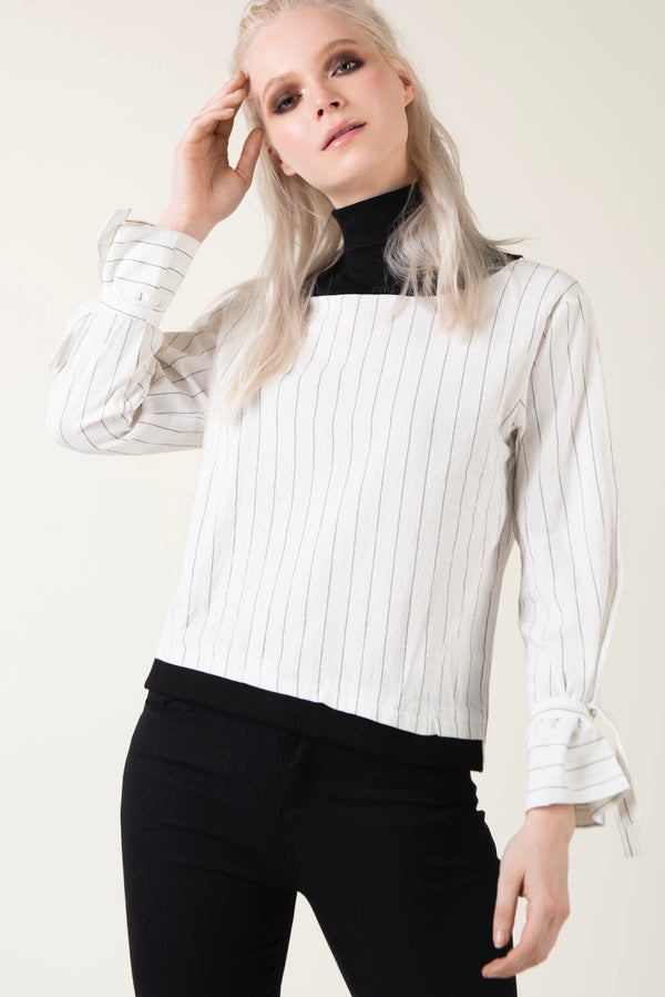 """New Generation"" -  High Neck Blouse - Just Your Dream London"