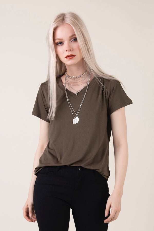 """Maisie"" - Army Green T-shirt - Just Your Dream London"