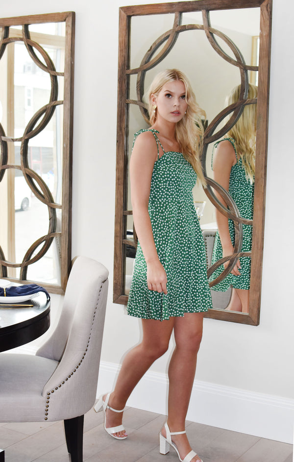 Palermo - green Floral Dress - Just Your Dream London
