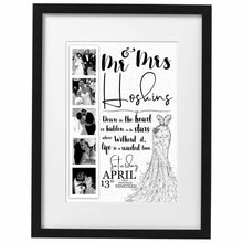 Load image into Gallery viewer, Sparkling Personalised Wedding Print