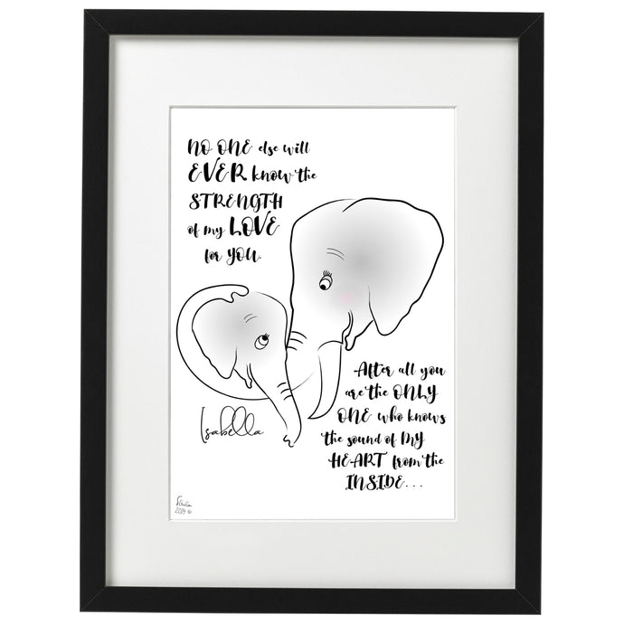 Personalised Baby Elephant (10% Donation to The Fertility Foundation)