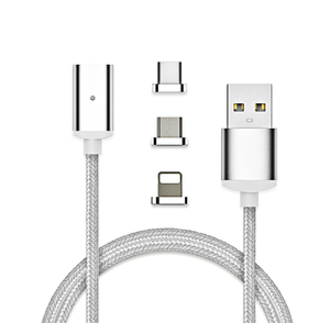 """over $29.9 free shipping""Two-piece three-in-one magnetic USB charging cable"
