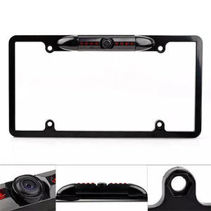 License plate frame 170 degree Angle rear view camera