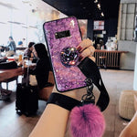 'Buy 2 free shipping '2019 New Fashion Fiber Soft Fur ball Diamond  case for Samsung