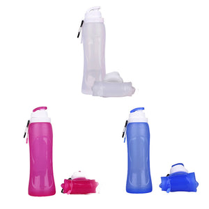 Collapsible Silicone Water Bottles-Easy to Clean and Store