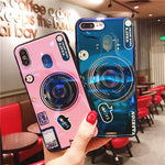 Diagonal retro camera phone case