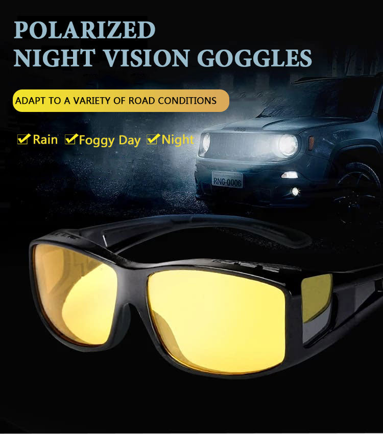FOR AUTO Night Vision Driver Goggles Unisex HD Vision Sun Glasses Car Driving Glasses UV Protection Polarized Sunglasses Eyewear