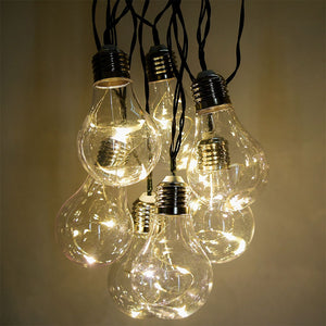 25 Bulbs String Lights Clear Globe G40 Bulb String Light Set Indoor/Outdoor