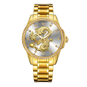 Hot Sale Today! Up to 50% discount!Luxury 3D Gold Dragon Quartz Wristwatch