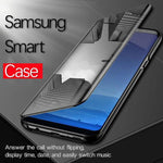 'Buy 2 free shipping '2019[Samsung] Luxury Flip Protection Full Screen Window Cases For Samsung Galaxy Note