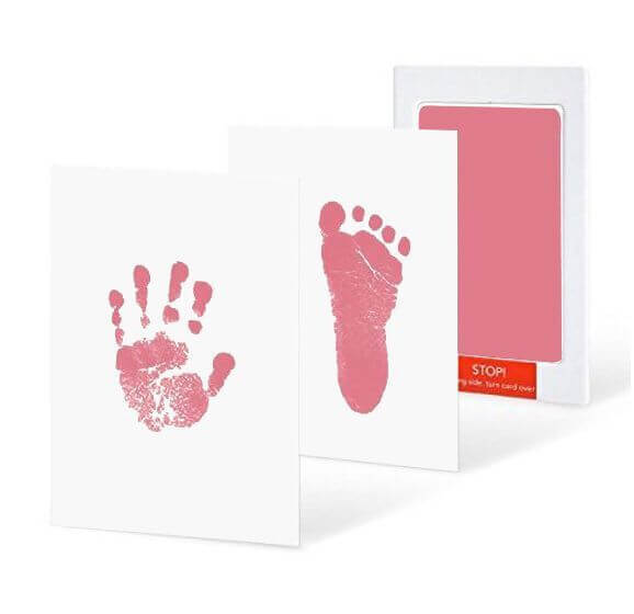 'Buy 2 free shipping 'Newborn hand and foot imprint card baby souvenir