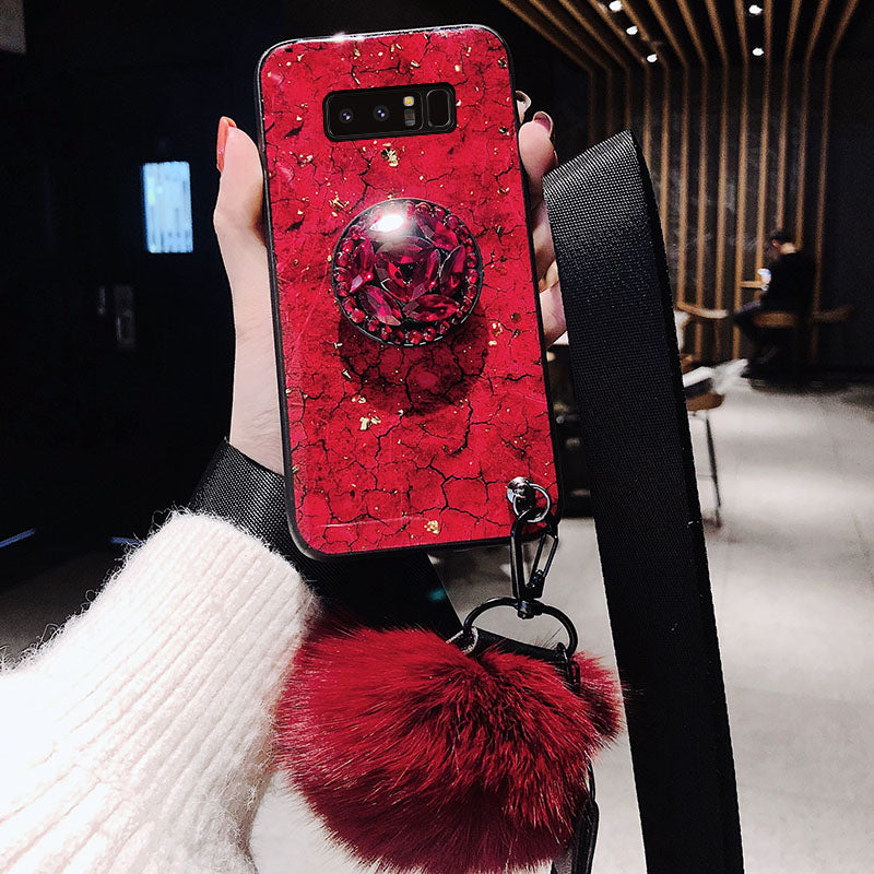4a8a619532 'Buy 2 free shipping '2019 New Fashion Fiber Soft Fur ball Diamond case for  Samsung