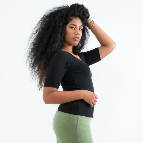 Shirt and Yoga Pants made from hemp cotton fabric
