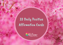 Load image into Gallery viewer, 33 Daily Positive Affirmation Cards Plus 1 Inhaler