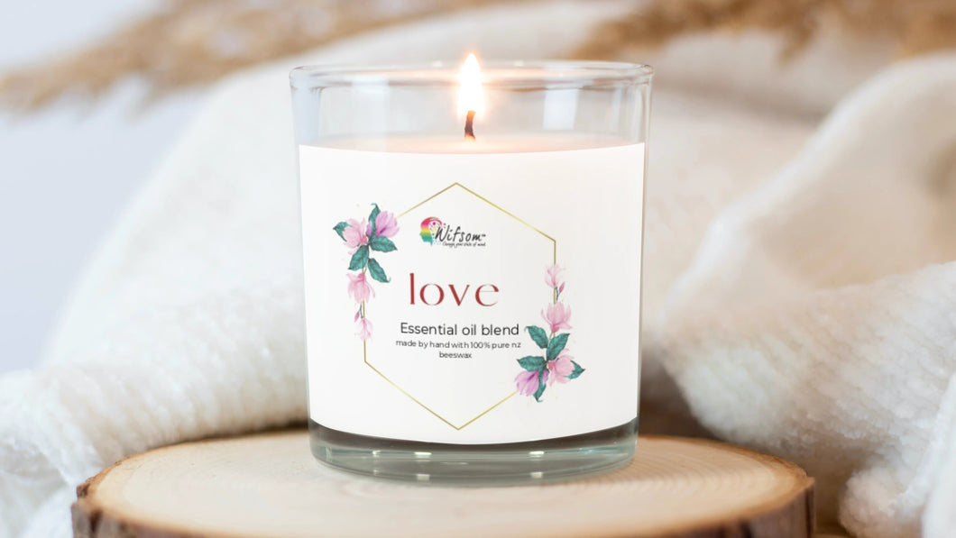 Wifsom Love Beeswax Candle