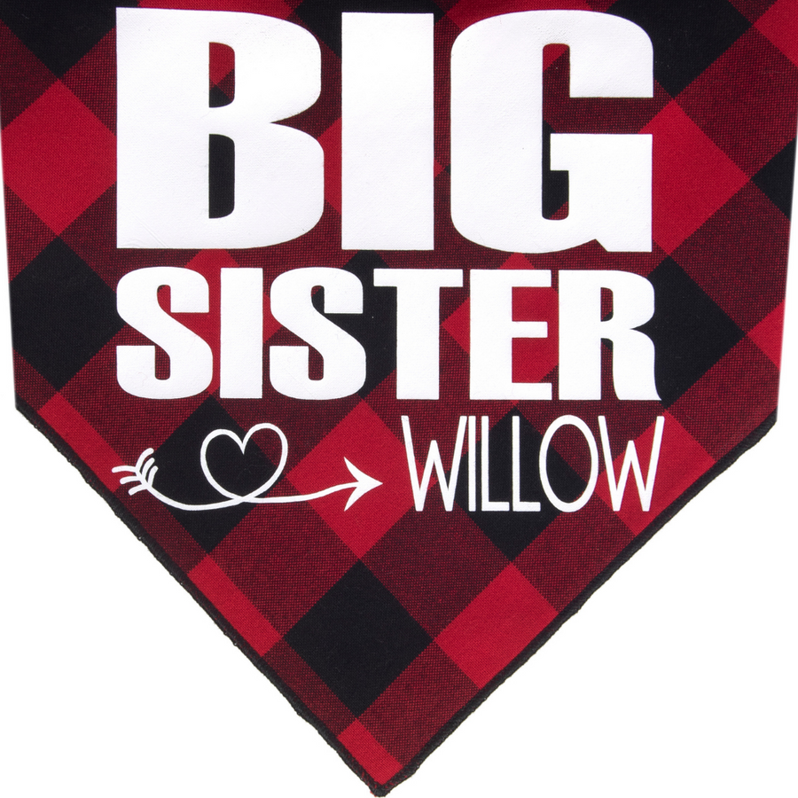 Big Sister Personalized - Red/Black