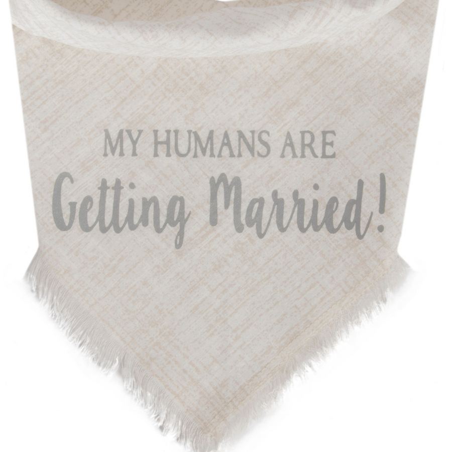 My Humans Are Getting Married! (White/Silver)