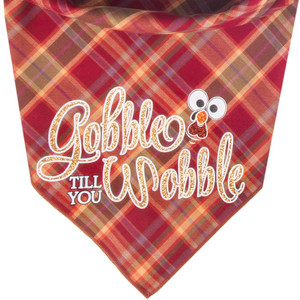 New! Gobble Till You Wobble Plaid