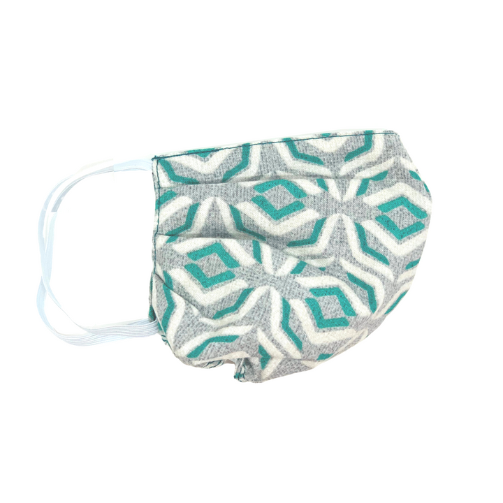 Grey/Teal Abstract Face Mask - 2 Sizes