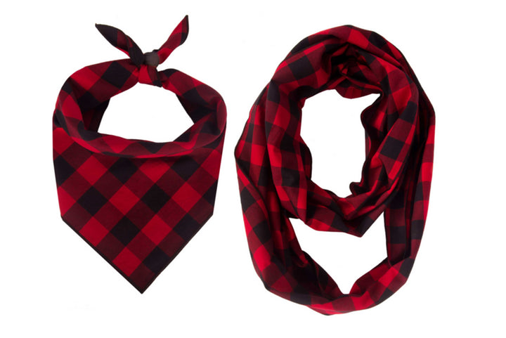 Classic Red Bandana + Scarf