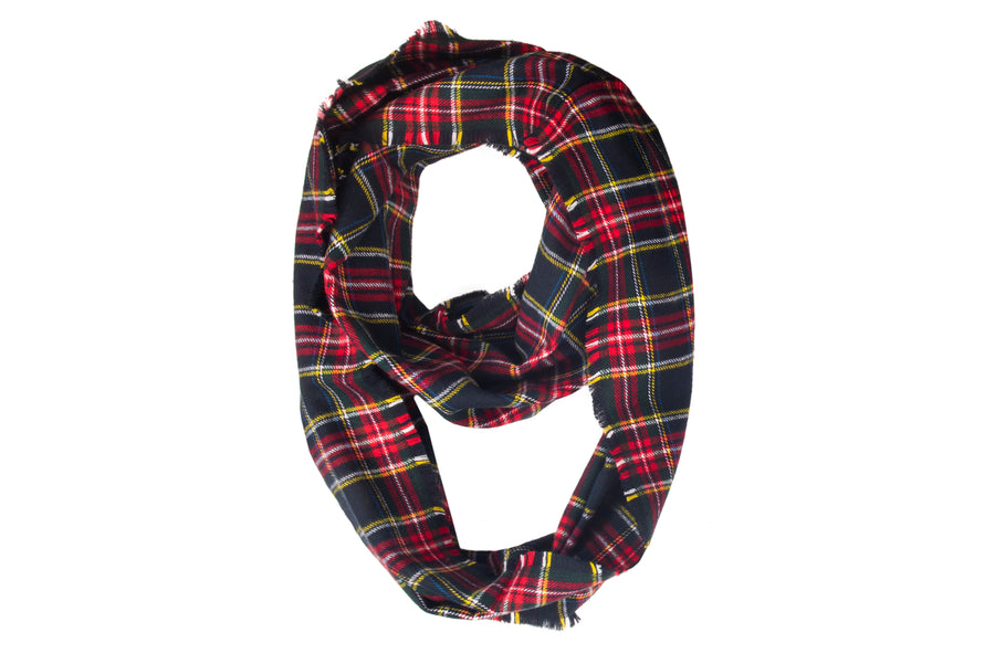 Clarice Fray Infinity Scarf