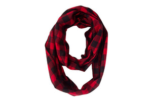 Classic Red Bandana + Infinity Scarf