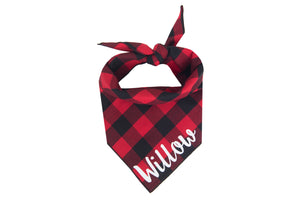 Personalized Classic Red Bandana + Scarf