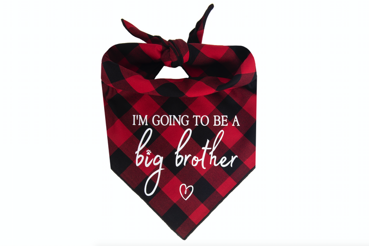 I'm Going to be a Big Brother - Red/Black